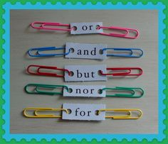 5 Conjunctions with clips - Students have to decide which simple sentences fit together.