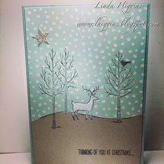 White Christmas for cute and simple cards