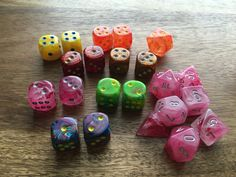 Chessex Ghostly glow pink
