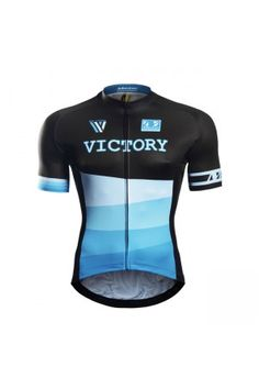2016 Custom Cycling Jersey Victory Black Blue Cycling Wear 0c026d343