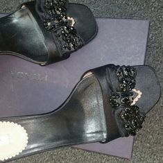I just discovered this while shopping on Poshmark: Prada Beaded Mules. Check it out!  Size: 8