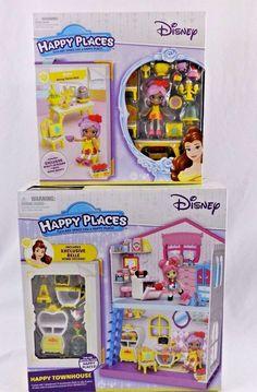 New 2 Disney Happy Places Shopkins Belle Doll Townhouse Beauty Beast Sets   #Shopkins