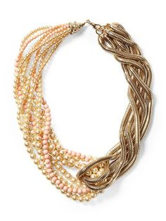 Tinley Road Faux Pearl and Chain Torsade Necklace | Piperlime