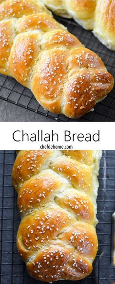 Traditional Braided Challah Bread Recipe | ChefDeHome.com