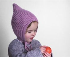 Pixie knit hat Baby Pixie bonnet Knitted hat by TreMelarance