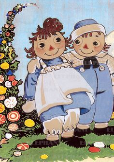 Raggedy Ann and Andy Say 'Hello' | Raggedy Ann & Andy Anytime Greeting Cards
