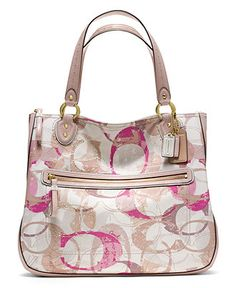 COACH POPPY STAMPED C HALLIE EW TOTE Handbags   Accessories - COACH - Macy s bd269acba4d30