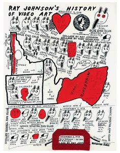 Example of Ray Johnson's pioneering correspondence art.