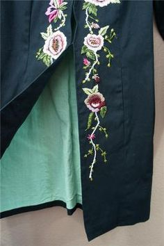 RARE Anthropologie Making A List 2002 Embroidered Coat Jacket Elevenses s 4 $298 | eBay