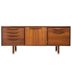 Rosewood Sideboard by Jens Risom, Denmark | From a unique collection of antique and modern credenzas at https://www.1stdibs.com/furniture/storage-case-pieces/credenzas/