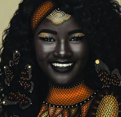 Khoudia Diop tells a world divided by colour: dark is dazzling and beyond beautiful.