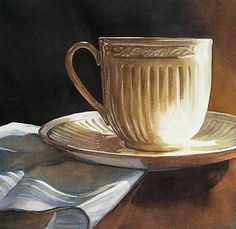 """Grandmother's Tea"" - Original Fine Art for Sale - © Kara K. Bigda"