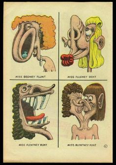 Art by Basil Wolverton...I'm guessing he must have been an influence on Peter Bagee.