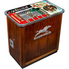 Baker's Pacers Short Track Horseracing Machine | From a unique collection of antique and modern games at http://www.1stdibs.com/furniture/more-furniture-collectibles/games/