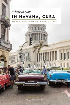A travel guide for Havana Cuba covering the best types of accomodation (hotels, casa particulars and airbnb). click through for recommendations!