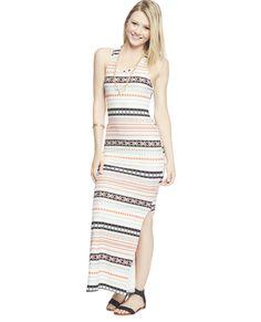 Aztec Stripe Maxi Dress | WET SEAL