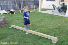 Educational Outdoor Fun for Kids-Diy Backyard Obstacle Course - Yahoo Image Search Results Outdoor Fun For Kids, Outdoor Play Areas, Diy For Kids, Outdoor Games, Backyard Obstacle Course, Kids Obstacle Course, Ninja Warrior Course, American Ninja Warrior, Backyard Games Kids
