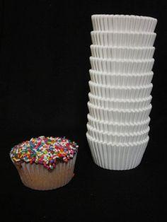 500 pcs.White Paper Cupcake Cup Liners - Standard Size- Appx 500 pcs.