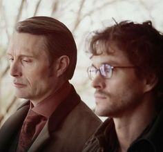 Hannibal Lecter and Will Graham (Mads Mikkelsen and Hugh Dancy)