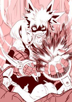 Uraraka and Kacchan - Boku no Hero Academia