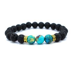 Azurite Lava Stone Bracelet