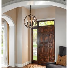 This Allier 4-Light Pendant by Feiss is finished in Weather Oak Wood / Antique Forged Iron tol accentuate every aspect of your home.