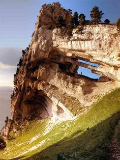 """https://flic.kr/p/2Byfc8   Tour Isabella, Chartreuse   Tour Isabella (double arch), Chartreuse  With its 32 meter span this double arch is reputed to be the largest in the European Alps. Its location was a closely guarded secret until """"discovered"""" by a local mountaineer in 2005."""