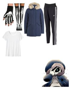 """Sans cosplay undertale"" by bree-quist on Polyvore featuring Woolrich, adidas and Toast"