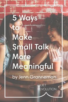 Yup, there are ways introverts can make small talk less draining: http://www.quietrev.com/5-ways-to-make-small-talk-more-meaningful/