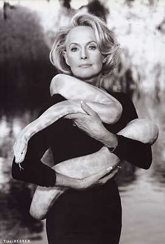 Tippi Hedren with a snake......Uploaded By www.1stand2ndtimearound.etsy.com