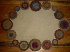 Penny Rugs and More.  Colleen's note: this is a rug I made, by Colleen MacKinnon