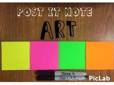 The Lost Sock : Post-it ART