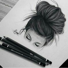 Cute drawings, heart drawings, hipster drawings, drawings of girls hair, be Hipster Drawings, Tumblr Drawings, Cool Drawings, Drawing Sketches, Pencil Drawings, Drawing Ideas, Sketching, Heart Drawings, Drawing Hair