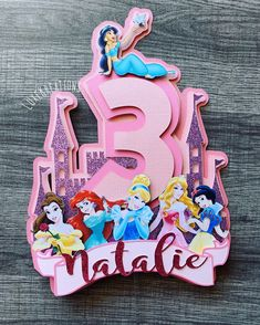 Excited to share this item from my shop: Disney Princesses cake topper, Disney princess party, princess party, princess cake topper, disney princesses party Disney Cake Toppers, Princess Cake Toppers, Disney Cakes, Princess Pinata, Disney Princess Birthday Cakes, Princess Cakes, Princess Art, Pink Princess, Frozen Birthday