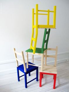 Love the half painted chairs