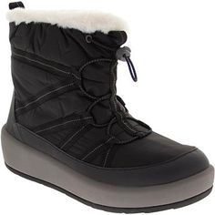 Clarks Step North Frost Comfort Winter Boots - Womens Black