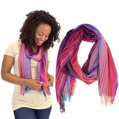 Beautiful Sunset Scarf at The Hunger Site