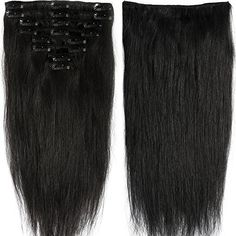 16 inch 90g Clip in Remy Human Hair Extensions Full Head ...