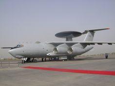Russian built Indian air force Ilyushin Il-76 Phalcon AWACs aircraft.