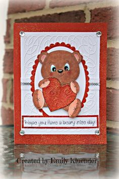 PK-159 Thinking of You Bear: Peachy Keen Stamps | Home of the original clear, peach-tinted, high-quality whimsical face stamps.