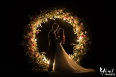 This couple had a custom-built, floral-framed circular arch as part of their Bel. This couple had a custom-built, floral-framed circular arch as part of their Belarus wedding ceremony. Pre Wedding Poses, Pre Wedding Photoshoot, Wedding Shoot, Wedding Dresses, Wedding Ideas, Night Wedding Photos, Wedding Night, Evening Wedding Decor, Wedding Ceremony Arch