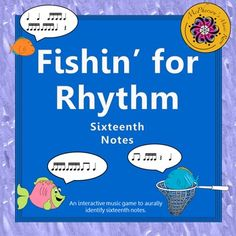 Your music students will fall in love with these fish in this engaging music resource. Excellent interactive rhythm game to help reinforce aurally identifying sixteenth notes!