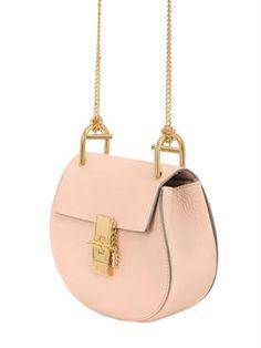 chloé - women - shoulder bags - mini drew grained nappa leather bag