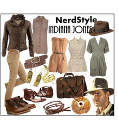 Indiana Jones-Nerd Style by apreciativenonartistYou can find Indiana jones and more on our website.Indiana Jones-Nerd Style by apreciativenonartist Character Inspired Outfits, Disney Inspired Outfits, Disney Outfits, Disney Style, Cute Outfits, Moda Safari, Safari Chic, Nerd Fashion, Fashion Trends