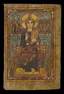 Evangelistario di Godescalco - Arte carolingia; figura monumentale con intento plastico; i contorni definiscono la figura <mosaici del 6° secolo, san Vitale (le figure riempiono lo spazio)