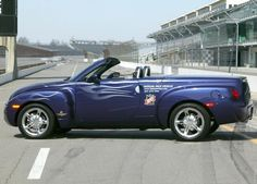 Could be one of the ugliest pace cars ever Chevy Ssr, Chevrolet Trucks, Chevy Trucks, Chevrolet Corvette, Sport Cars, Race Cars, Indie Clothing Brands, Indianapolis Motor Speedway, Classic Pickup Trucks