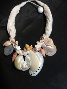 Sea Shell Necklaces Seashell Necklace for by greenleafvintage1, $32.99
