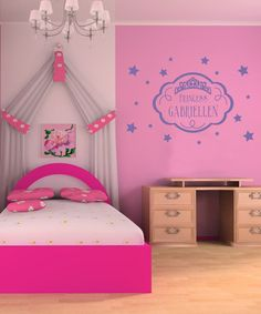 Look what I found on #zulily! Lavender 'Princess' Personalized Wall Decal Set by Sissy Little #zulilyfinds