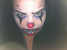 Scary clown makeup by Karlie Wahanui