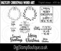 * Sketchy Christmas Word Art